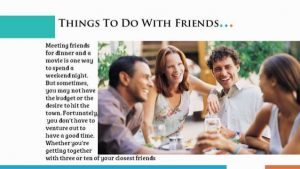 Free Things To Do With Friends 2