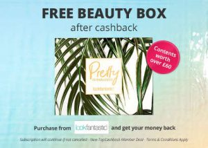 Free Beauty Box after cashback