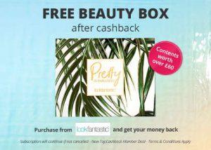 Free Beauty Box after cashback